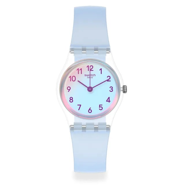 【SWATCH】Essentials系列手錶 CASUAL BLUE 自在天藍(25mm)