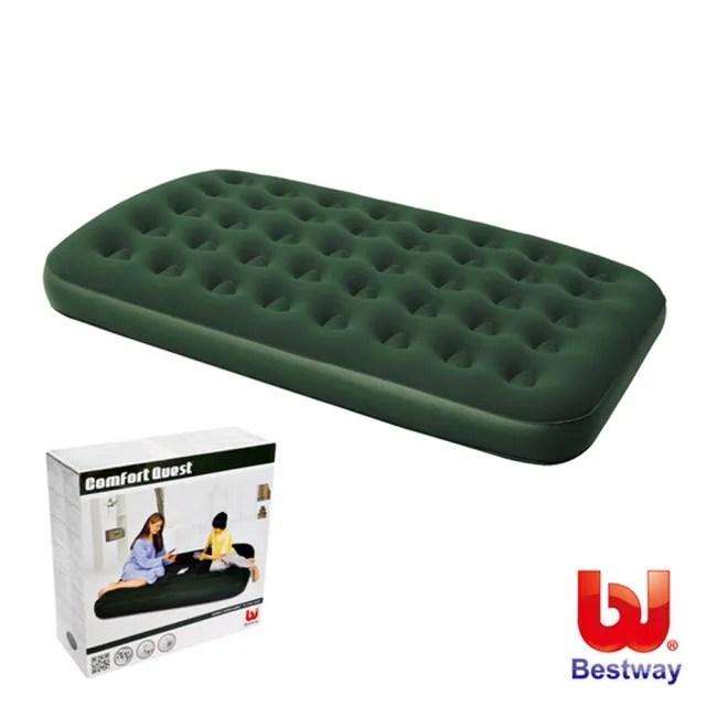 【酷博士】Bestway。75x54x8.5雙人高級植絨充氣床墊(67448)