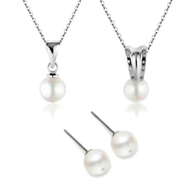 【大東山珠寶】日本AKOYA珍珠項鍊耳環套組4選1(日本AKOYA海水珍珠)