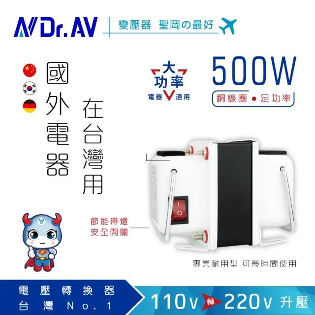 【Dr.AV 聖岡科技】GTC-500  升降電壓變換器-500瓦(升降壓 電壓變換器 變壓器 500瓦)