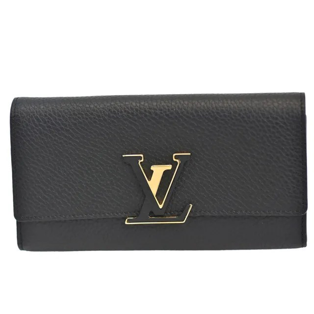 【Louis Vuitton 路易威登】M61248 Capucines小牛皮釦式長夾(黑)