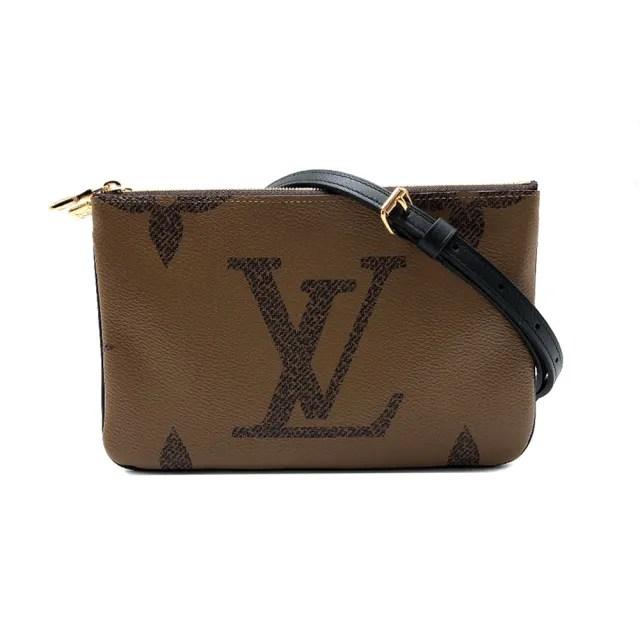 【Louis Vuitton 路易威登】Double Zip Pochette 雙層拉鍊手拿斜背包(M69203-咖)