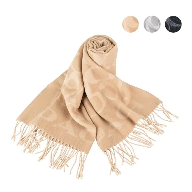【COACH】COACH 經典SIGNATURE 羊毛針織圍巾(三色)