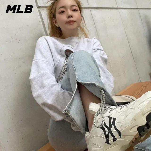 【MLB】復古老爹鞋 拼接撞色休閒鞋 側邊Logo 紐約洋基隊(32SHC3111-50W)