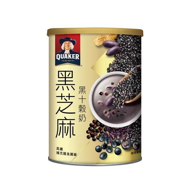 【QUAKER 桂格】黑芝麻黑十穀奶 390g*3罐(植物奶 全素可食)