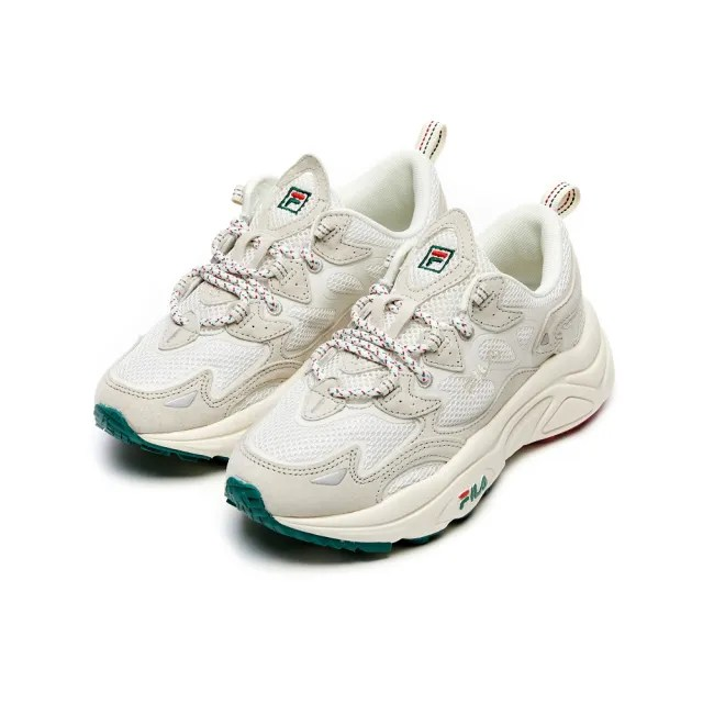 【FILA】厚底鞋 老爹鞋 男/女鞋 運動鞋 TENACITY 中性運動鞋-米/綠(4-C120V-124)