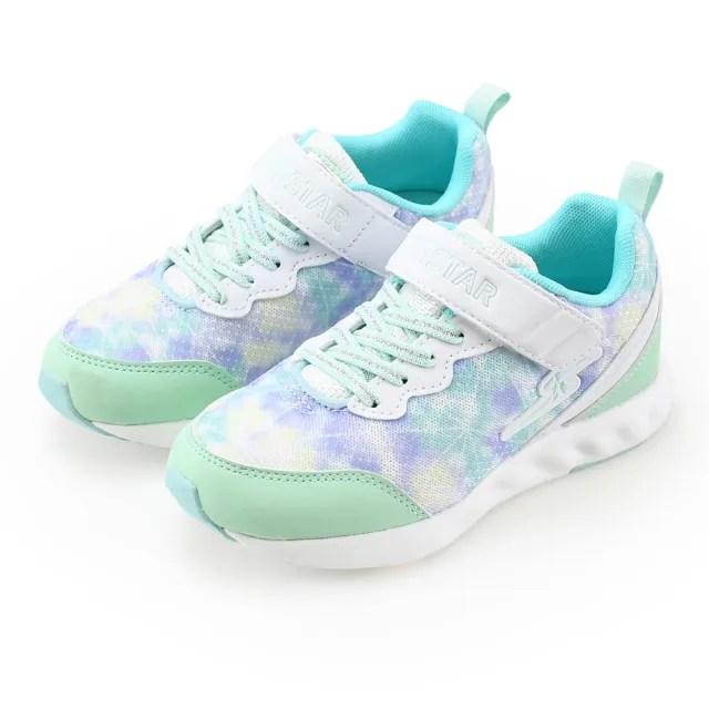 【MOONSTAR 月星】女孩競速運動童鞋(SSJ10188綠-19-23cm)
