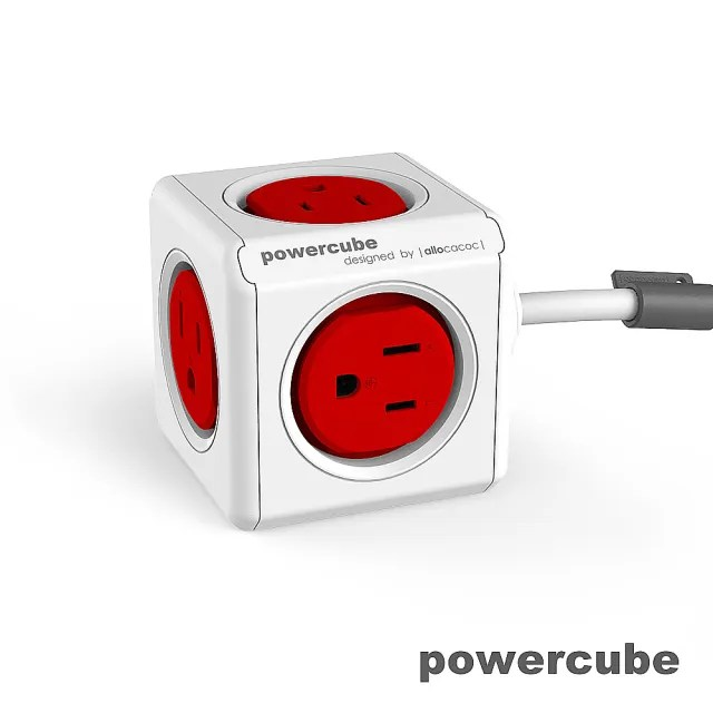 【索樂生活】荷蘭PowerCube 擴充插座5面3孔延長線1.5m(自動斷電保護積木堆疊魔術方塊任意轉接)