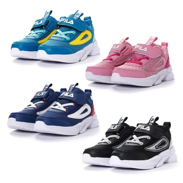 【FILA】輕量慢跑鞋 童鞋 兒童運動鞋(2-J823V-011/2-J823V-311/2-J823V-511/2-J823V-661 四色任選)
