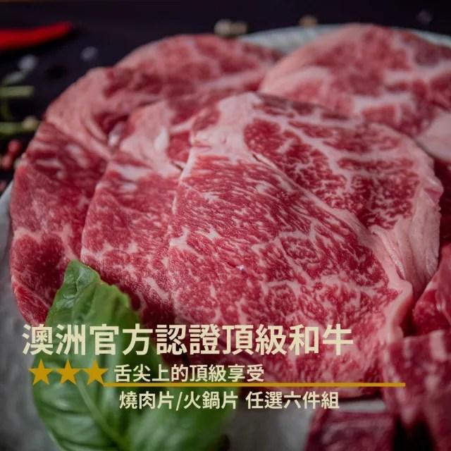 【嚴選好物HOWGOOD】澳洲和牛前腿燒肉片/火鍋片MB8-9  任選六盒組(舌尖上的頂級享受)
