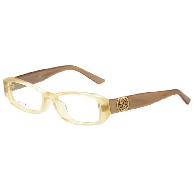 【GUCCI】-時尚光學眼鏡(透明黃)