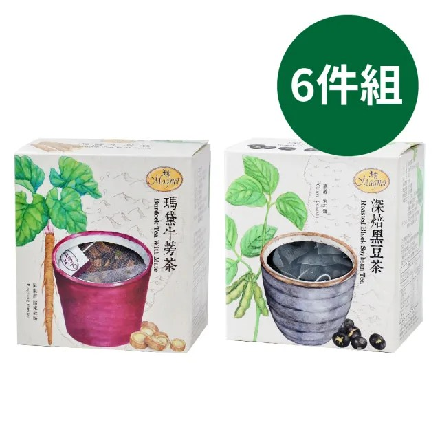 【曼寧】草本除濕茶 5-8g*15入*6盒(深焙黑豆茶/瑪黛牛蒡茶)