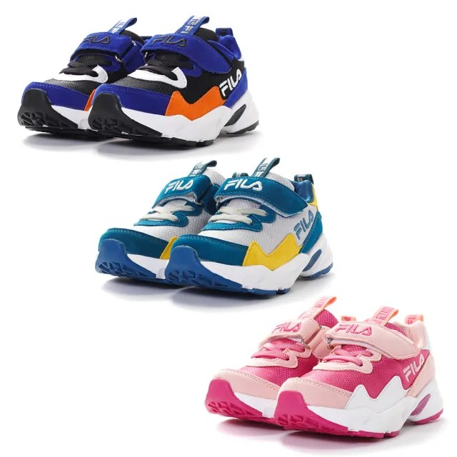 【FILA】KIDS 氣墊慢跑鞋 童鞋 運動鞋 康特杯 支撐鞋墊(2-J822V-212/2-J822V-300/2-J822V-644 三色任選)