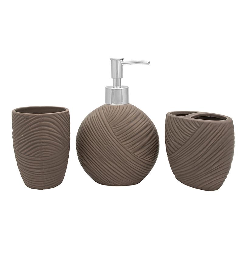 Buy Home Belle Grey Ceramic Bathroom Accessories