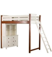 Buy Single Bunk Bed with Desk and Hutch Dresser by Pink ...