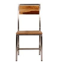 Mint Steel Frame Wooden Chair by Mudramark Online ...