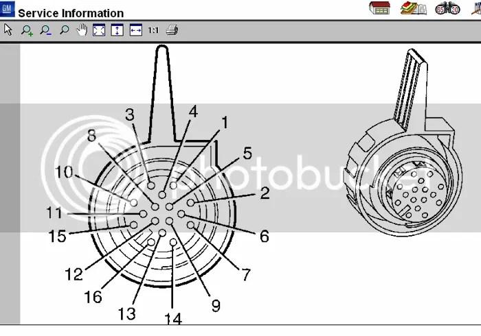 Pinout diagram for TCM connector?