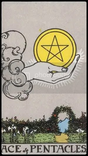 RWS Ace of Pentacles