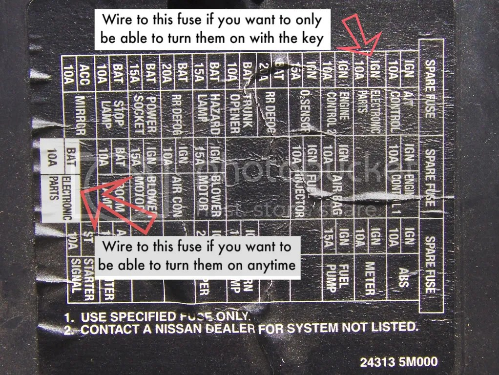 2004 Nissan Sentra Engine Fuse Box Diagram