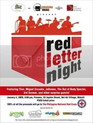 Red Letter Night: A Concert for the Philippine National Red Cross