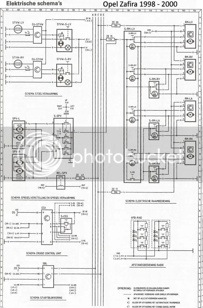 Schema Elettrico Opel Astra F: Schema fusibili opel zafira
