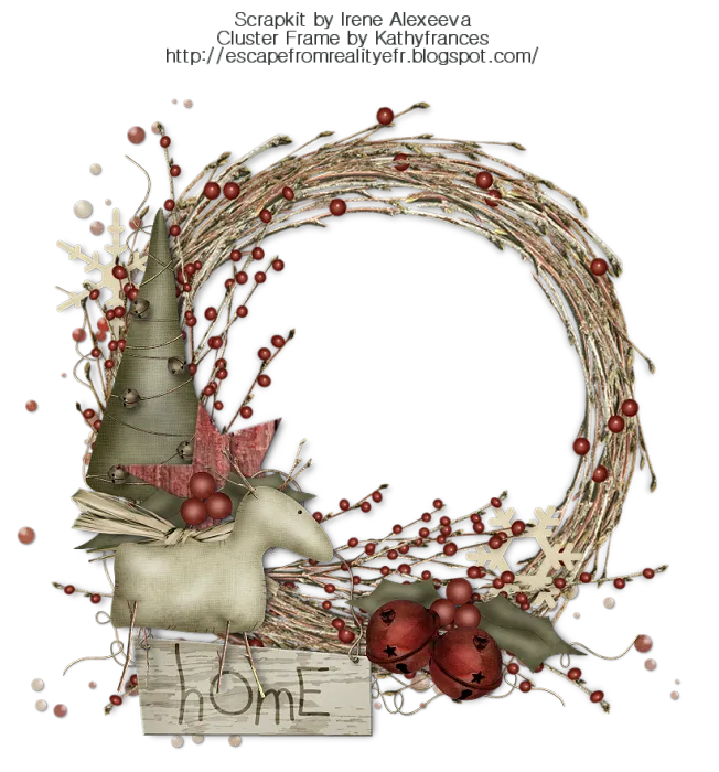 Escape From Reality Blog FTU Christmas Cluster Frame