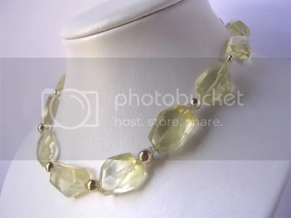 Lemon Citrine Necklace by Annette Piper Dip. Gem. Handcrafted Jewellery