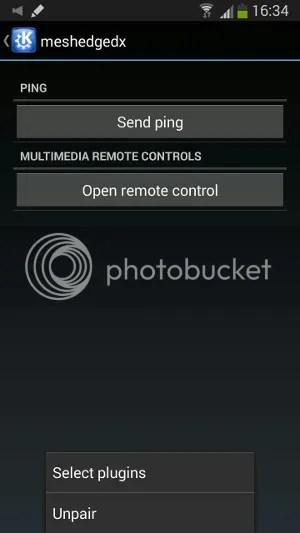 KDE Connect screen