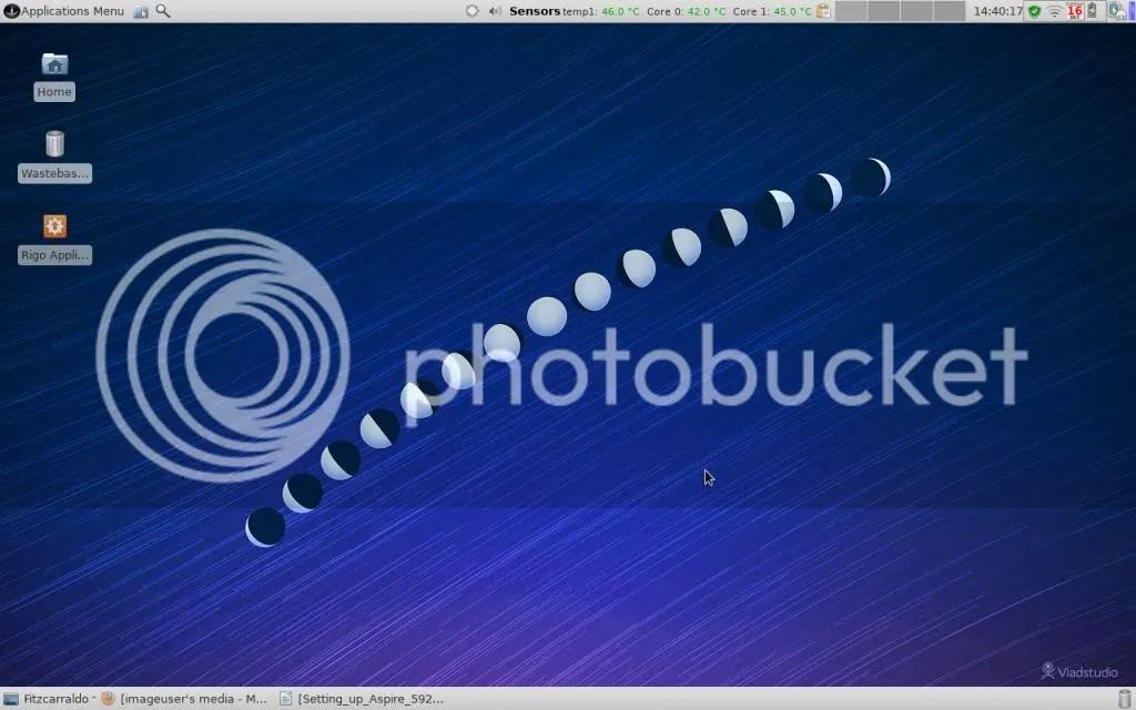 Sabayon Linux Xfce on Acer Aspire 5920
