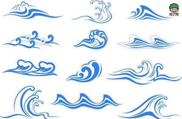 海浪圖案簡筆畫 簡單實用的波濤設計素材 手抄報裝飾 - 壹讀