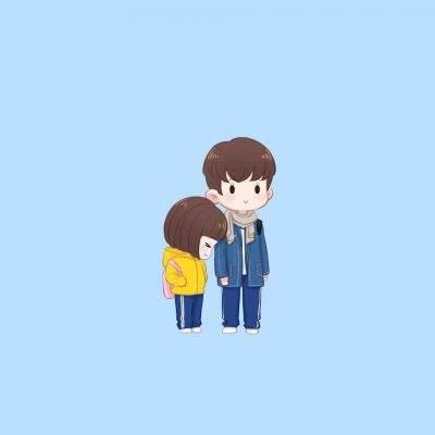 江辰陳小希動漫q版情侶頭像 卡通小美好超萌超可愛 - 壹讀
