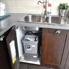 Kitchen Garbage Cans Dining Table 小廚房巧利用 垃圾這樣收納吧 壹讀 厨房垃圾桶