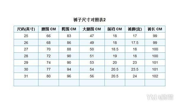 女褲尺碼對照表 告訴你身體各項參數測量方法 - 壹讀