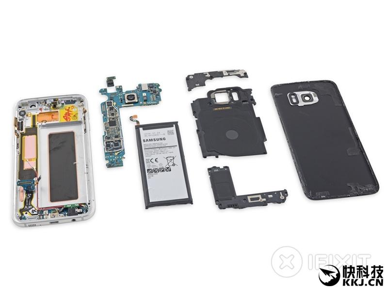 高清!三星曲面機皇Galaxy S7 edge拆解:電池太良心 - 壹讀