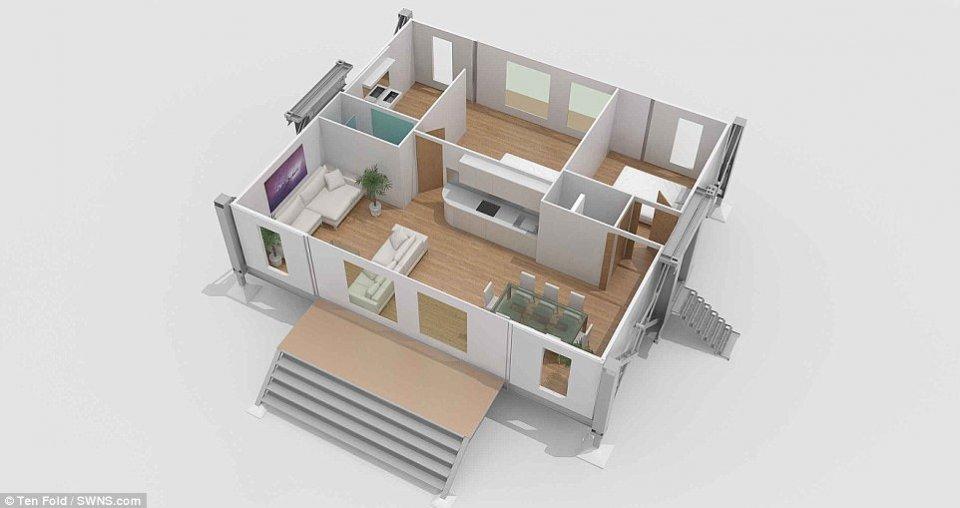 英國發明可摺疊房屋!10分鐘內展開!僅售88萬 - 壹讀