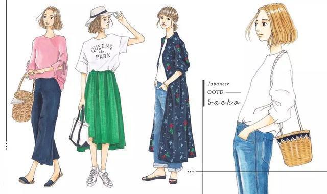 跟著手繪時尚插畫家saeko學會日系質感穿搭 - 壹讀