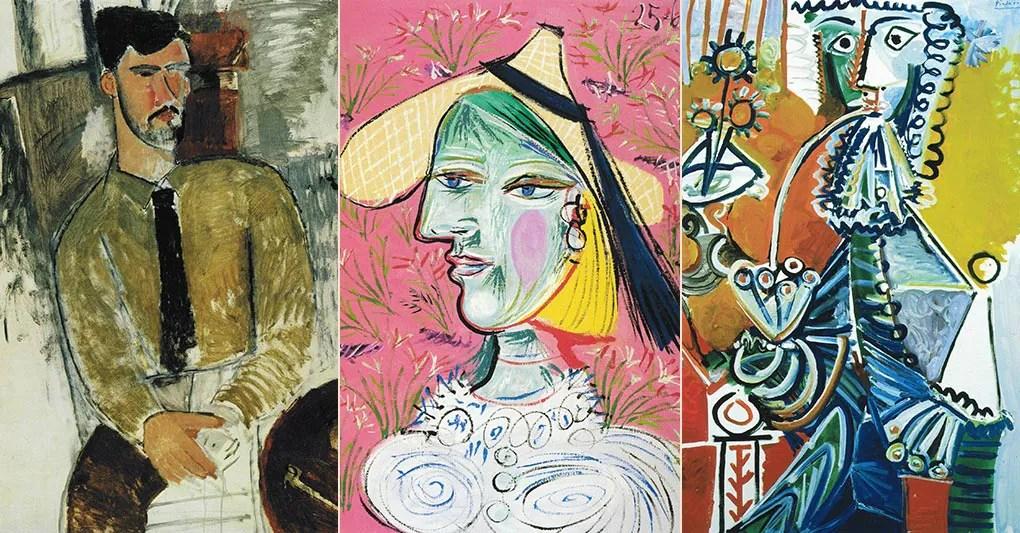 (Modigliani - Henri Laurens; Frau mit Strohhut (Marie-Thérèse) 1938; Gentilhomme à la pipe)
