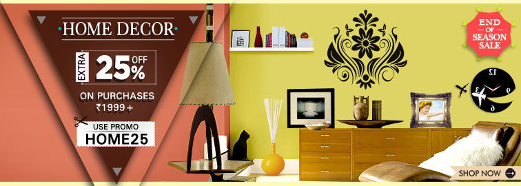 Snapdeal Home Decor Sale Upto 70 Off Extra 25 Off