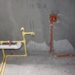 Kitchen Wall Faucets Greenhouse Window 水路改造施工流程_新浪家居