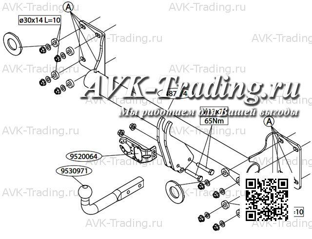 Фаркоп Thule Brink 487200 для BMW X5 (2007-2013) купить в