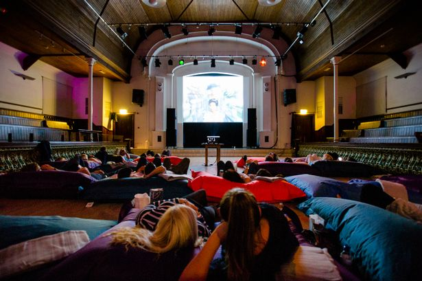 You can watch films while lounging on bean bags at a new