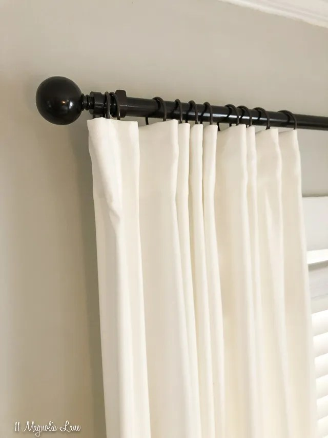 how to pleat curtains for a custom look
