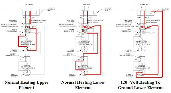 electric hot water heater wiring diagram,