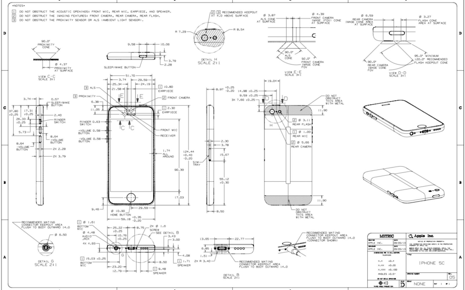designing an iphone 5c 5s case here are your official apple schematics [ 1600 x 1000 Pixel ]