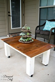 DIY Outdoor Patio Coffee Table