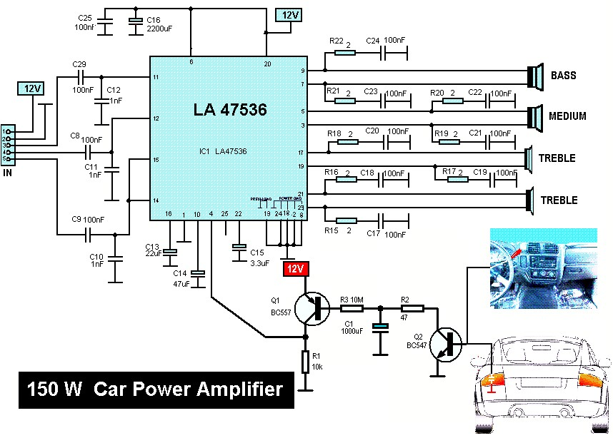 Amplifier With Equalizer Wiring Diagram 150w Car Audio Amplifier Amplifier Circuit Design