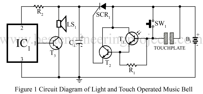 moreover touch switch circuit diagram on door bell circuit diagram