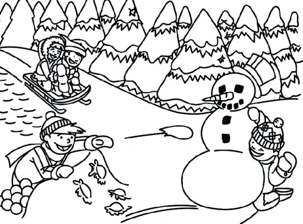 free printable winter coloring pages # 13