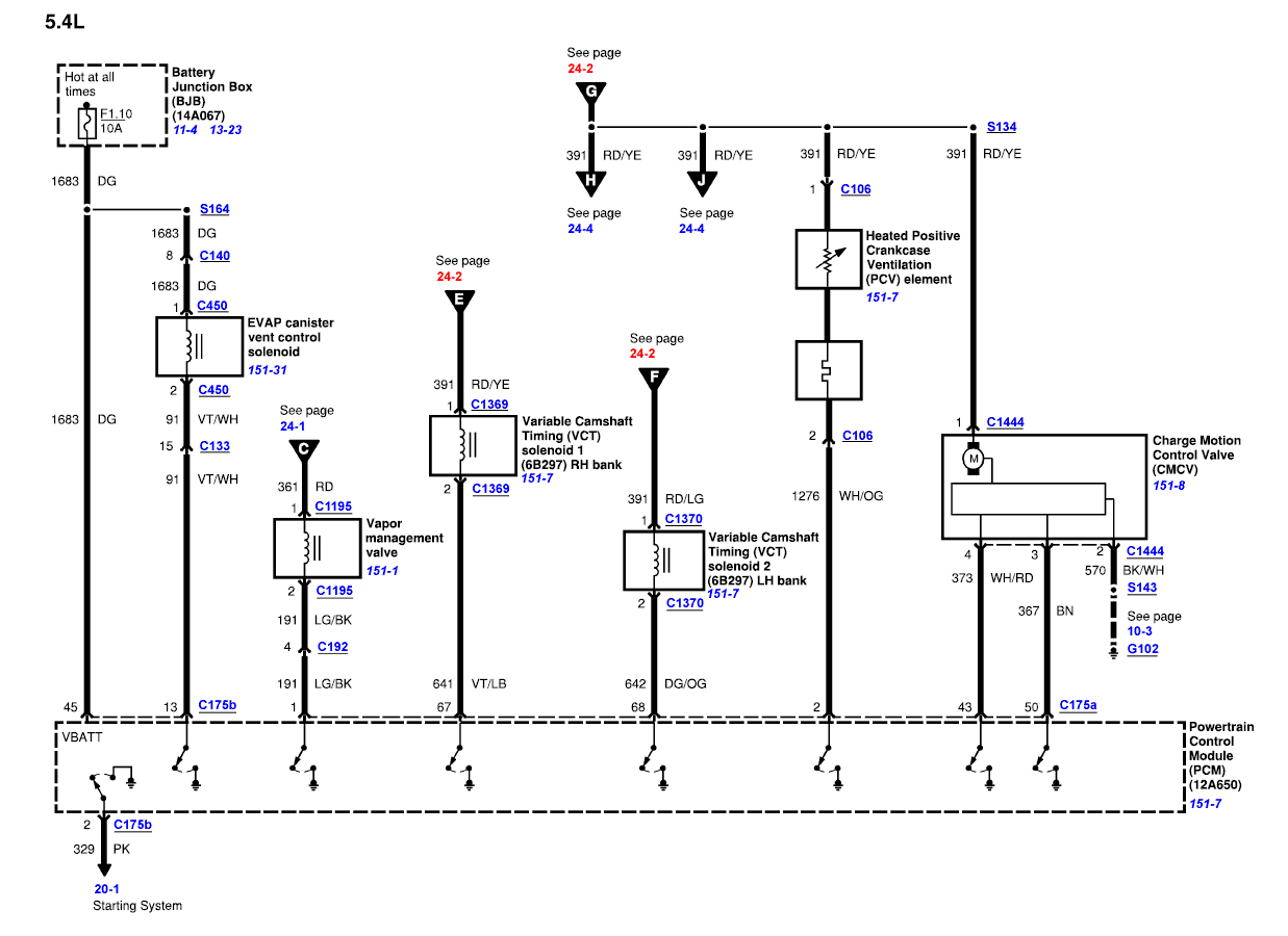 hight resolution of ford v10 pcm wiring diagram