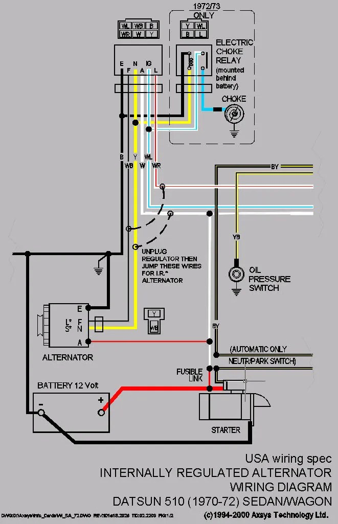 280z alternator wiring diagram